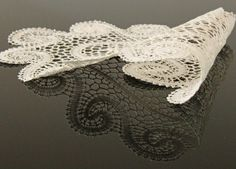 Oval tablecloth hand - made by a master of Polish handicraft. Lace originating from Bobowa (lace-brick technology) – the pearl of the South Region