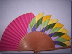A Vintage Fans, Hand Fans, Breeze, Origami, Exotic, Hand Painted, Antiques, World, Pintura