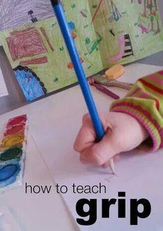 How to teach pencil grip