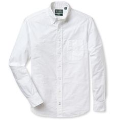 Their classic Oxfords are made from 100% cotton Cambridge Oxford, a durable cloth that softens when washed but remains virtually indestructible. This fabric was used for the first stock shirt made in 1978, and it's the very same cloth that they use today. Cut and sewn in Gitman Vintage Pennsylvania factory, this white Oxford features a button down collar and signature details like chalk buttons, rear locker loop and double-track stitching for added durability.