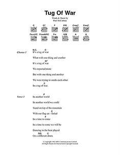 Tug Of War Sheet Music