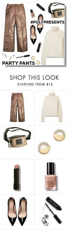 """""""#PolyPresents: Fancy Pants"""" by peony-and-python ❤ liked on Polyvore featuring Madewell, Burberry, Maryam Nassir Zadeh, Bloomingdale's, Bobbi Brown Cosmetics, Zara, Stephanie Kantis, contestentry and polyPresents"""