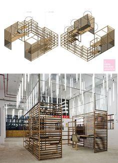 Haka Recycle Office, por Doepel Strijkers. Mobiliário de escritório com material de demolição