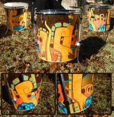 Mayan Inspired Drum by cobaltdog