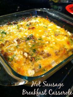 Sequins and Scissors: Hot Sausage Breakfast Casserole