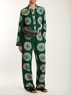 6388b5a98 Medallion-print silk pyjama trousers