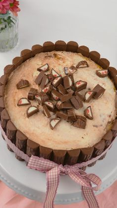 Rezeptvideo: Yogurette®-Torte - New Ideas Dessert Simple, Easy Desserts, Dessert Recipes, Baking Recipes For Kids, Desserts Sains, Food Cakes, Chocolate Desserts, Sweet Recipes, Mousse