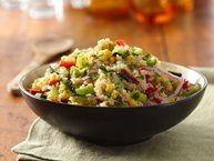 Quinoa and Vegetable Salad (Gluten-Free) Recipe from Betty Crocker.  Very good. Made it and will be making it again!
