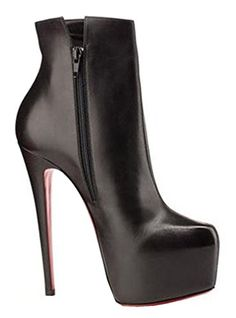 Cute High Heels These are just perfect heeled shoes for any heel addict, note the traction they are gonna provide. Leather High Heels, Black High Heels, Black Boots, Wedge Boots, High Heel Boots, Heeled Boots, Stiletto Heels, Shoes Heels, Short Boots