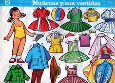 Muñecas recortables antiguas año 1983 diseñadas por por Lalysshop visit https://www.etsy.com/es/shop/Lalysshop?ref=l2-shopheader-name
