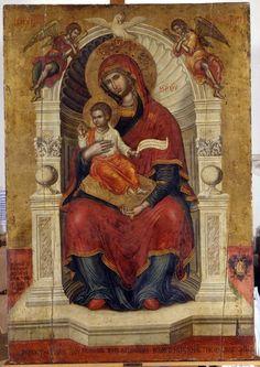 """ΜΡ.ΘΥ__Παναγια """" η Λαμποβιτισσα"""" ( Mother of God 'Lambovitissa'1684-Emmanuel Tzanes"""