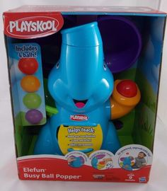 Playskool Elefun Busy Ball Popper Elephant NEW #Playskool