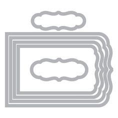 Amazon.com: Sizzix Framelits Die Set 6PK - Banners, Fancy