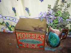 Collectible Advertising Tin Box  MORSE'S Tea Morse by ATokenOfLove, $60.00 Tea Tins, Vintage Tins, Tin Boxes, Vintage Advertisements, Old And New, Decorative Boxes, Advertising, Canada, Display