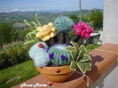 cactus piante grasse all'uncinetto