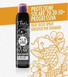 THAT'SO - ALL IN ONE - PROTEZIONE SOLARE 20/30/50+ TATTOO OLIO SECCO PROTETTIVO SPRAY CONTINUO