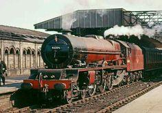Princess Royal Pacific 46204 at Crewe, circa Steam Locomotive. Steam Trains Uk, Old Steam Train, Diesel Locomotive, Steam Locomotive, Train Car, Train Tracks, Rail Transport, Abandoned Train, Steam Railway