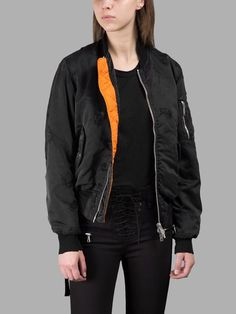 BEN TAVERNITI UNRAVEL PROJECT BEN TAVERNITI UNRAVEL PROJECT WOMEN'S BLACK BOMBER JACKET. #bentavernitiunravelproject #cloth #jackets