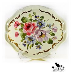Remember these? Still so pretty and on sale through 12/4! Don't miss out. Large Creamy White Toleware Tray Vintage by northandsouthshabby