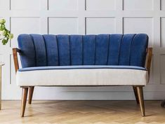 Tallulah two seater small sofa in blue velvet and linen, £599, Atkin and Thyme Finding the perfect small sofa for a small room is a challenge. It doesn't help that retailers often put the larger sofas on display, making it hard for you to visualise what they would look like in a smaller size. Many stores make sofas to order, however, and many ranges will offer sizes that start from one and a half seaters. Jonah two seater small sofa, £549, Made.com Oh and remember that their [...] Small Sofa, Large Sofa, Blue Velvet Sofa, Traditional Sofa, Sofa Styling, 2 Seater Sofa, Small Rooms, Decor Styles, Love Seat
