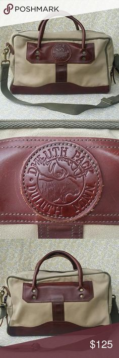 """Duluth Pack Duluth Minn. Portfolio Briefcase Duluth Pack Duluth Minn. Portfolio Briefcase Carryon Bag 15"""" X 10"""" X 4"""" There Is Some Great Patina Some Scratches And Even A Water Stain Duluth Bags Travel Bags"""