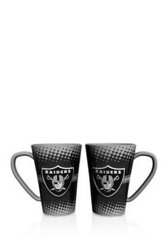 Boelter  16-oz. NFL Oakland Raiders 2-pack Latte Coffee Mug Set