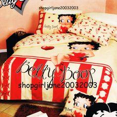 Betty+Boop+❤+Heart+❤+Double/Full+Bed+Quilt+Doona+Duvet+Cover+Set+❤