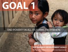 Global Goal Number One: No poverty
