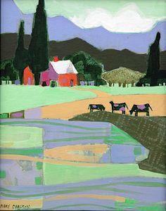 """Mary Carlton - """"Montana Land #10 - Acrylic"""
