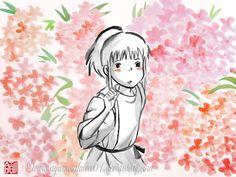 Chihiro 2 - sumi-e | by SayuriMVRomei @ DeviantART.com // studio ghibli; spirited away