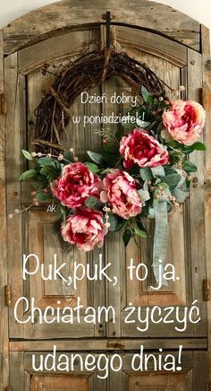 Good Morning, Floral Wreath, Humor, Quotes, Good Morning Funny, Buen Dia, Quotations, Bonjour, Humour