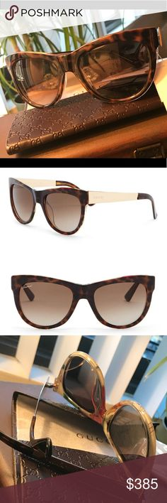 34fa867990 💯%Authentic GUCCI Rounded cat Eye 55mm sunglasses Seriously .... Gorgeous !