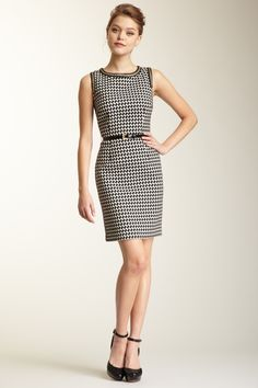 Trina Turk Houndstoothy style dress
