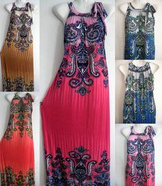 PLUS SIZE 2X 3X 4X Women Long Maxi summer beach party hawaiian evening sundress  | eBay