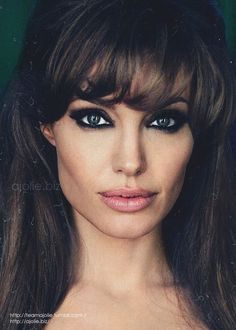 Ultimate Bombshell look: Angelina Jolie!I love the smokey eye and pink lips and how contoured her cheek bones are in this photo. Makeup Tips, Beauty Makeup, Hair Makeup, Hair Beauty, Sexy Makeup, Makeup Blog, Flawless Makeup, Makeup Trends, Hair Trends