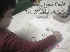 Preparing Your Child For Number Activities