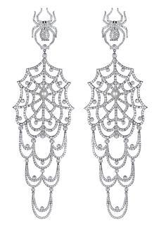 Jacob & Co.'s Jacob's Web Collection Earrings #JacobArabo #JacobandCo. #JacobsWeb #jewelry #earring #whitegold