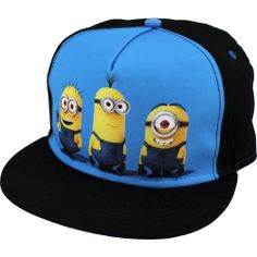 Despicable Me Minions Flat Bill Cap Hat One Size Fits Most Youth Flat Bill Hats, Flat Hats, Snapback Hats, Beanie Hats, Beanies, Minion Outfit, Minion Clothes, Red Bull Hats, Superman