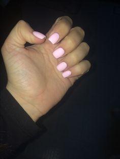 pink acrylic small square nails