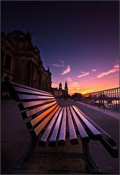 A bench in Dresden by Torsten Hufsky