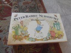 Peter Rabbit Beatrix Potter Wedgewood 3 piece Breakfast Porridge Nursery Set #Wedgewood