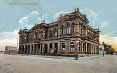 Northcote Town Hall early 1900s - postcard.