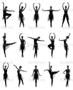 Set of different ballet poses. Black and white traces isolated on white, stock photo Ballet Pictures, Poses For Pictures, Dance Pictures, Pictures To Draw, Drawing Pictures, Dance Picture Poses, Dance Photo Shoot, Dance Poses, Photo Poses