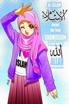 Gambar Kartun Wanita Muslimah Berjilbab Cantik Dan Anggun