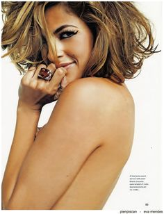 Eva Mendes flirty short cut ... very whimsy like pieces. Flowy layers.. cute colors! Love <3