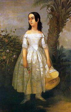 François-René Moreaux - Retrato de Menina, 1841