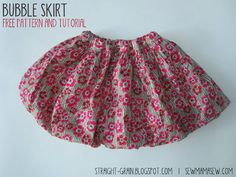 StraightGrain. A blog about sewing: Bubble skirt: Free pattern and tutorial