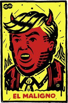 Donald Trump makes it to a loteria card: Meet 'El Maligno' (toon ...