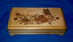 Decorative Wood Burned Jewelry Box Wooden by EssenceOfTheSouth, $78.50