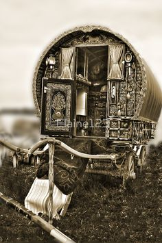 """""""Gypsy Caravan """" by Elaine123   Redbubble...to just up & go. What a lovely time that would be."""